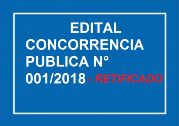 EDITAL DE LICITAÇÃO CONCORRÊNCIA PUBLICA N° 001/2018