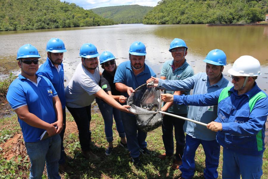 46 mil peixes são soltos nos rios Balsa e Ponte Alta por meio de solicitação da Prefeitura Municipal