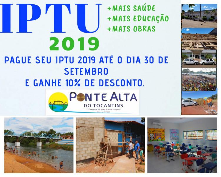 Pague seu IPTU 2019 até o dia 30 de setembro e ganhe 10% de desconto