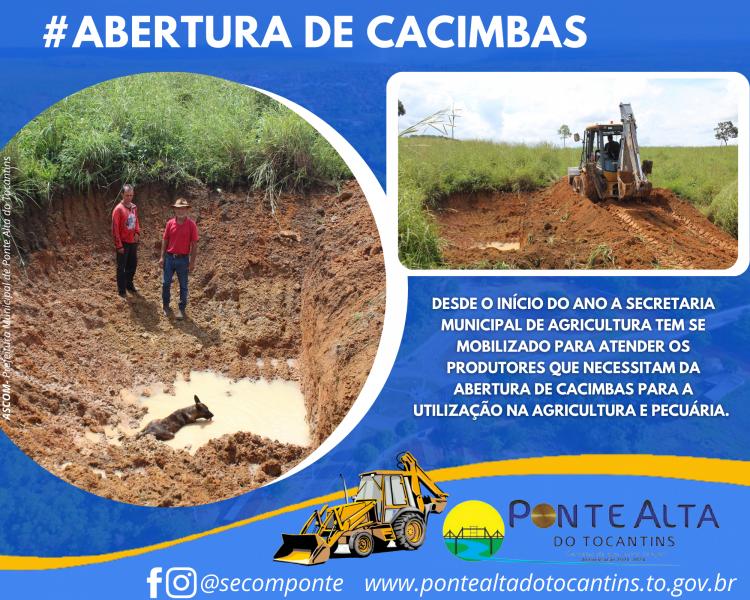 Prefeitura realiza abertura de cacimbas na zona rural