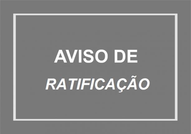 AVISO DE RETIFICAÇÃO – INEXIGIBILIDADE DE LICITAÇÃO N° 001/2018
