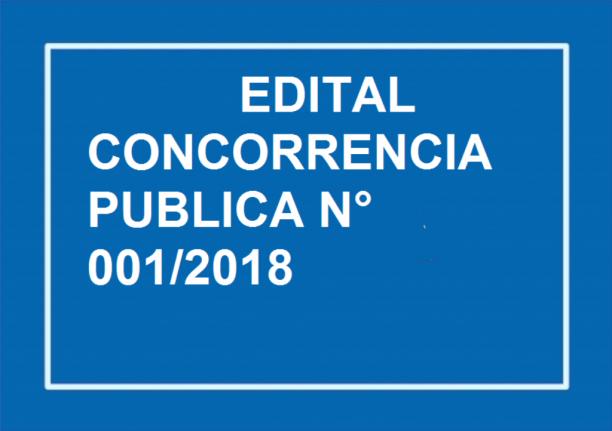 EDITAL DE CONCORRÊNCIA PÚBLICA N° 001/2018