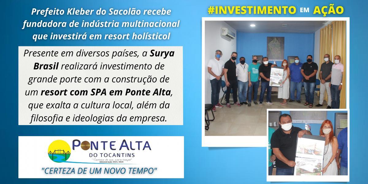 Prefeito Kleber do Sacolão recebe fundadora de indústria multinacional que investirá em resort holístico